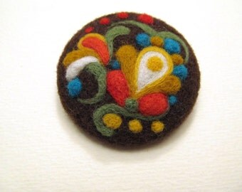 Original design best friend gift Mothers day gift Rustic style fabric jewelry Girlfriend gift Original art for her jewelry Felted brooch