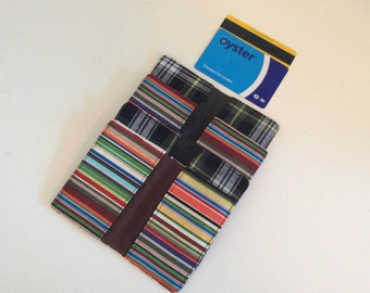 Waxed cotton Card holder, Oyster card, travel card, credit card holder  from