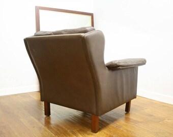 Vintage Danish Leather Armchair