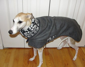 "Whippet Coat - ""Charcoal Zentangle"""
