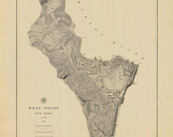 West Point Map 1883