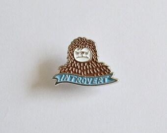 Introvert Enamel Pin | Bigfoot Enamel Lapel Pin