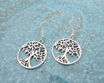 Tree earrings, tree of life earrings, tree of life