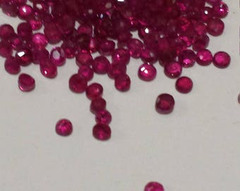 Natural Genuine Loose Ruby 2mm Rounds, 1 Carat, July Birthstone