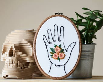 Flowers in My Hand Embroidery