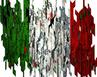 Distressed italian flag decal, full color italian flag decal, italy flag sticker, Italy flag laptop sticker, vinyl decal, vinyl sticker