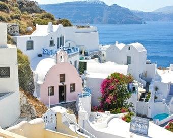 Colorful Hills of Oia, Santorini | Greece Photography