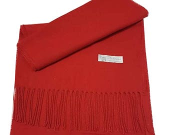 Men Super Soft Cashmere Luxury Feel Scarf/Shawl For Day To Evening Occasions (Red)