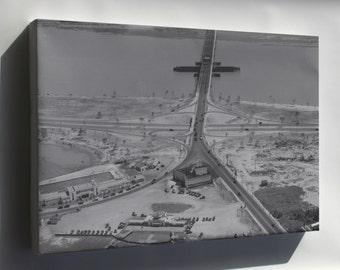 Canvas 24x36; 14Th Street Bridge 1932