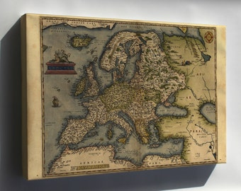 Canvas 24x36; 1572 Europa Ortelius Map Of Europe By Ortelius