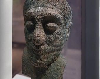 Canvas 24x36; Head Of A Dignitary, Iran, About 2000 Bc, Arsenical Copper Cincinnati Art Museum Dsc04606