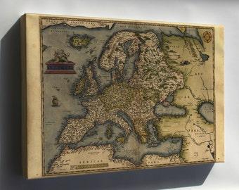 Canvas 16x24; 1572 Europa Ortelius Map Of Europe By Ortelius