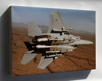 Canvas 16x24; F-15 Eagle 555Th Tactical Fighter Training Squadron 1984
