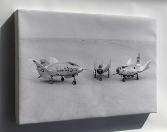 Canvas 16x24; Three Lifting Bodies On Lakebed (X-24A, M2-F3, Hl-10) 1969