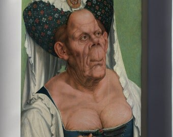 Canvas 16x24; Ugly Duchess A Grotesque Old Woman By Quentin Matsys