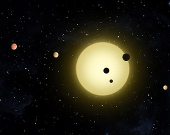 16x24 Poster; Kepler-11 Planetary System, With At Least 6 Planets In Short Orbits