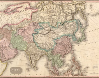 16x24 Poster; Map Of Asia 1818