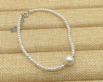 Pearl Bracelet, freshwater pearl Bracelet,white pearl bracelet, beaded bracelets pearl,pearl bracelets bridal,brdesmaid bracelets pearl