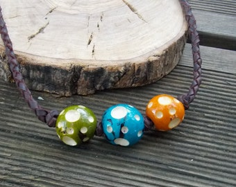 Leather necklace, leather necklaces for women, leather necklace men, leather pendant, colors necklace, colors necklace, leather jewelry,