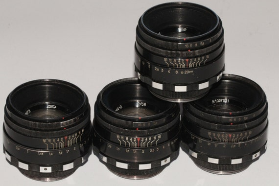 HELIOS 44-2 MMZ 2 2/58mm Zebra Made in USSR Soviet lens with M42 - 4 pcs q149
