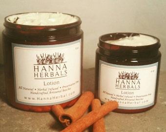 Cinnamon Body Lotion - organic lotion-Cinnamon Essential Oils - Vegan Lotion