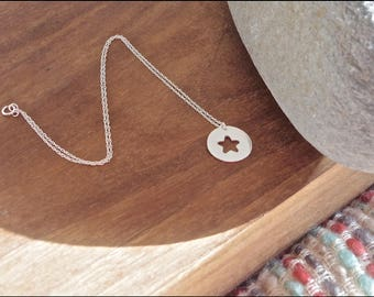 Silver Star necklace, Star jewelry