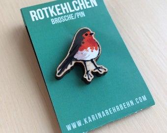 Robin brooch / pin #2 PREORDER