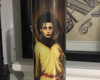 St Edward Scissorhands Prayer Candle