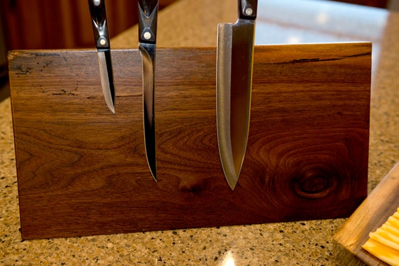 Counter Top Magnetic Knife Block Holder By Salvagedcreation