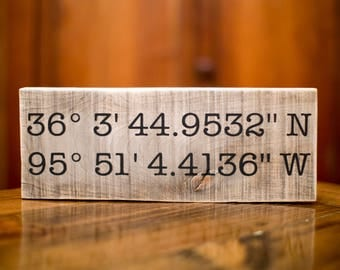 Wedding Day Gift | Wedding Gift | Latitude Longitude Sign | Gift For Her | GPS Coordinates |  | Gift For Dad | Gift for Bride