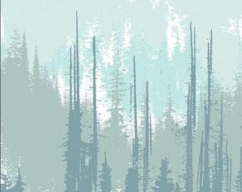 Art Gallery - Blithe - Evergreens Frozen - BLI-75610 - Katarina Roccella - Trees - Frost - Winter - Forest