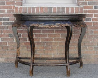 Beautiful 20% Off 19th Century Asian Demilune Table, Chinese Console Table, Antique  Console