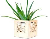 Mini Wooden Milk Crate // Planter // Record Storage // 45 Record Storage // Storage Container