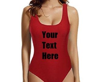 Custom Personalized Designed One Piece Bathing Swim Suit