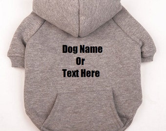 Dog hoodie etsy Dog clothes design your own