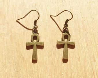 Ankh Bronze Colour Earrings