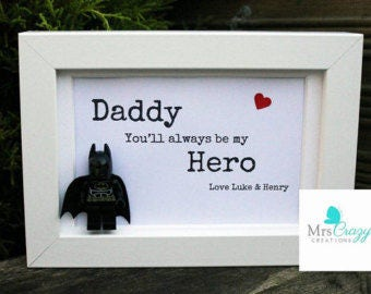 Perosnlaised Lego superhero Dad frame