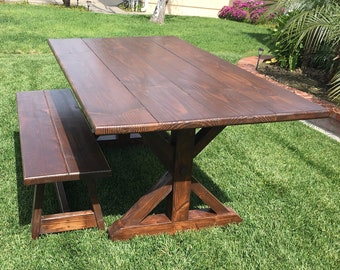 Farmhouse Dining Table- Customizable, Local Pickup Only Southern California