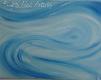 Abstract original 'Wind' painting