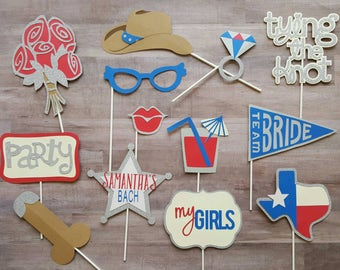 Texas Inspired Bachelorette Party Photo Booth Props