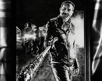 Jeffrey Dean Morgan as Negan - The Walking Dead art print