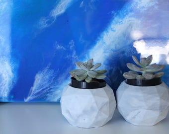 Marbled Concrete Pot | Cement Planter | Succulent Planter | Air Plant Holder | Candle Holder