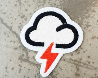 Cloud lighting sticker,Cloud lighting patch,Cloud lightning applique,Craft Supplies ,Tools,Sewing,Fiber,applique,craft supplies,tools,sewing