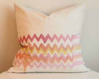 Vee 1R - Hand Painted / Hand Crafted Accent Cushion Cover