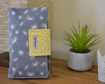 Nappy Wallet, diaper wallet, dandelion