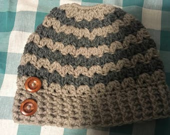 Homemade crochet hats