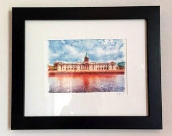 Customs House - Dublin - Watercolor Original