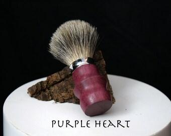Genuine Badger Hair Shaving Soap Brushes - Various Woods