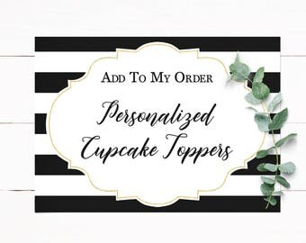 Personalized Cupcake Toppers to Match your Invitation