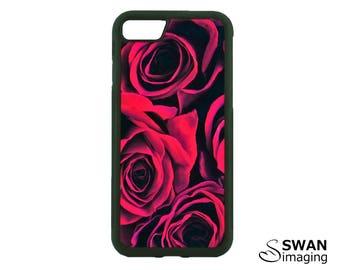 Red Roses Phone Case ~ TPU + PC Case ~ iPhone 5/5S, SE, 6/6S, 6/6S Plus, iPhone 7, 7 Plus ~ Samsung Galaxy S5, S6, S7, S7 Edge, S8, S8 Plus